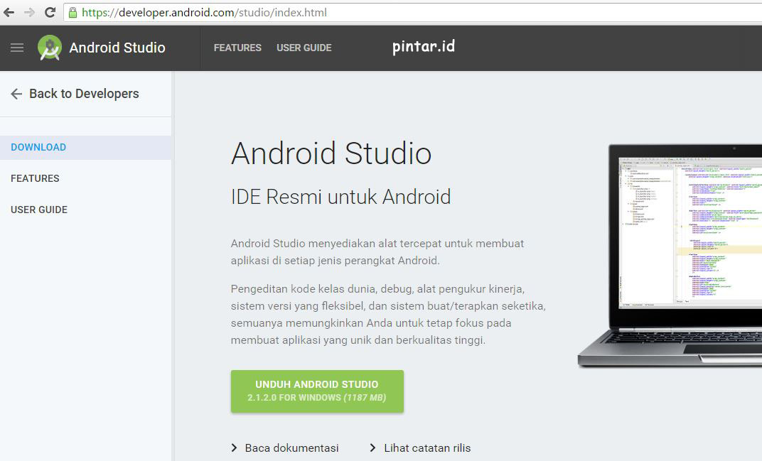 2 Android Studio 2.12 android.pintar.id