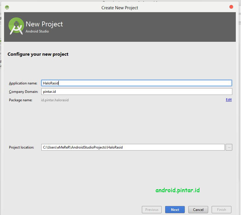 Project Pertama Android Studio 2 Halo Rasid